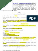 ESTATUTO DOS FUNCIONÁRIOS PÚBLICOS DO MUNICÍPIO DE PORTO ALEGRE e alterações