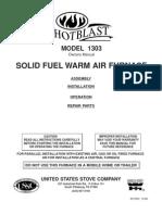 1303 MANUAL Ussc Hotblast Stove