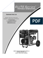 Briggs & Stratton Elite Portable Generator Parts List Model # 030241