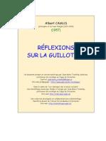 Reflexions Guillotine Camus