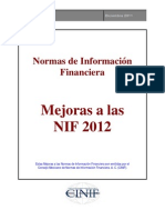 Mejoras a las NIF 2012
