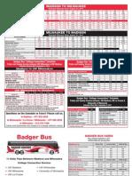 Badger Bus Schedule