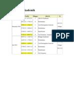 kalendar akademik