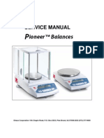OHAUS Pioneer Service Manual