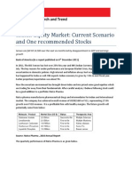 Indian Equity Market Analysis and One Recommend Stock(December 2011)