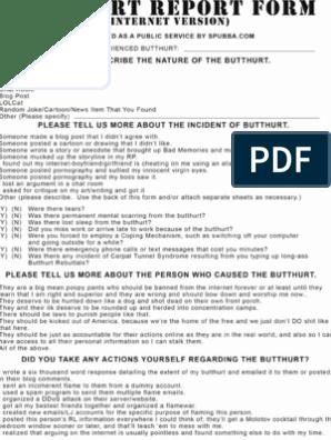 photograph regarding Butthurt Report Form Printable identify Butt Problems Posting Kind