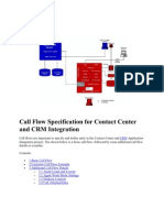 Call Flow Specification for Contact Center and CRM Integration