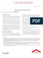 Bench Marking Home Energy Savings From Energy-Efficient Lighting (CMHC)