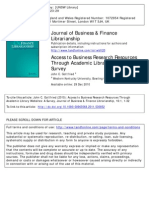 Business Databases in Libraries