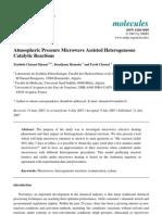 Zoubida Chemat-Djenni et al- Atmospheric Pressure Microwave Assisted Heterogeneous Catalytic Reactions