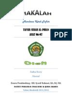 Tafsir Surah Al-Imran Ayat 96-97 PDF