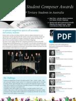 Sibelius Composer Awards Brochure