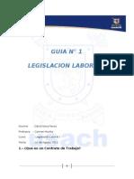 Guía N° 1 Legislacion Laboral. David Nova