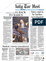 The Daily Tar Heel for January 10, 2012