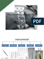 Pleurotomía y Sello de Agua