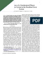 Phasor Mesurement System in Brazil