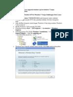 Cara Mengupgrade Windows XP Ke Windows 7 Tanpa Kehilangan Data Lama