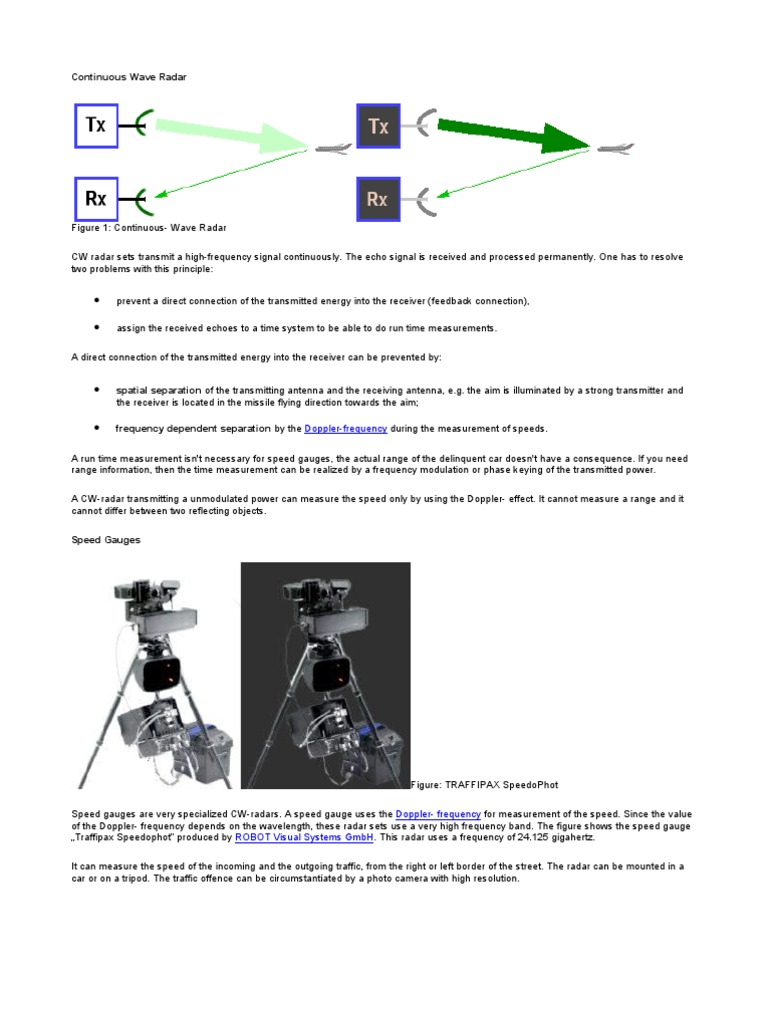 Continuous Wave Radar | Radar | Transmitter