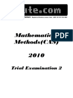 2010 Mathematical Methods Cas Trial Exam 2