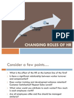 Changing Role of HR