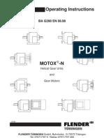 Motox N Operating Manual