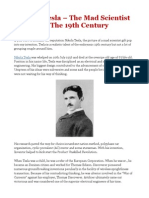 Nikola Tesla – The Mad Scientist Of The 19th Century