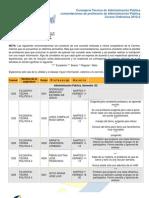 Recomendaciones Profesores 2012-2 ConsejerosAP FCPyS