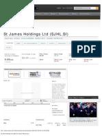 St James Holdings Ltd (SJHL.si) Quote_ Reuters