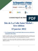 Communiqué de presse La Colle_Version 2