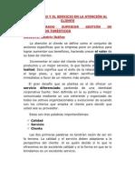 LA CALIDAD Y EL SERVICIO EN LA ATENCIÓN AL CLIENTE 2AT3