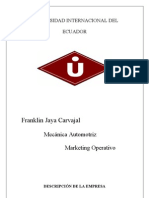 Trabajo Final Marketing Franklin Jaya