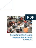 Humanitarian Situation and Response Kachin Dec 2011 OCHA