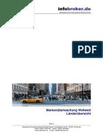 Markenüberwachung - Markenmonitoring - Weltweit - Länderliste