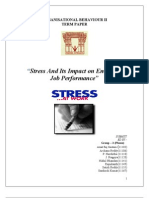 Stress and Its Impact on Employee Job Performance - Group - 2(PHEOX)