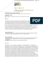 RP-HPLC Method for Simultaneous Estimation of Telmisartan and Hydrochlorothiazide in Tablet