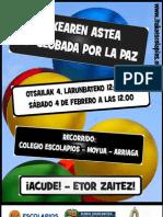 Cartel Globada por la Paz 2012 - Fundación Itaka Escolapios