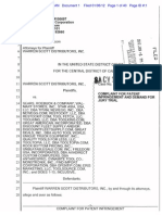 Warren Scott Distributors v. Sears Roebuck and Company et. al.