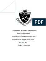 Assignment of Project Management