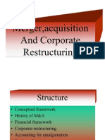 Merger, Acquisition and Corporate Restructuring - 12