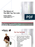 The Return of the DB2 Top Ten Lists