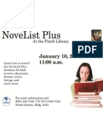 NoveList Plus at the Patch Library