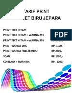 Tarif Print