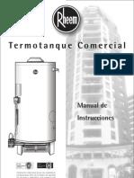 Manual Termotanques Rheem - Linea Comercial
