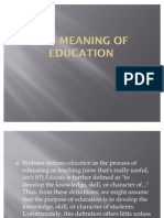 The Meaning of Education
