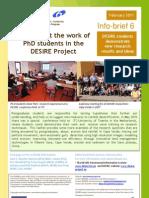 Info-Brief 6 DESIRE PhD Students 2