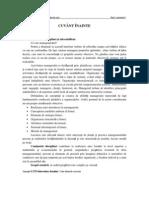 Cornelia Tureac, Management, Note de Curs