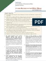 Ocha Opt Movement and Access FactSheet September 2011