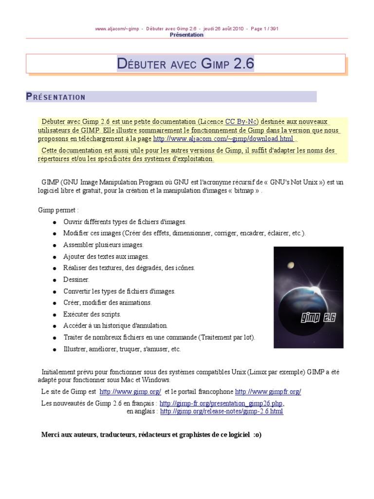 GIMP 2.6 BROSSE GRATUIT TÉLÉCHARGER POUR