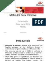 Ppt on Mahindra Rural Initiative by Anup Kumar Ojha