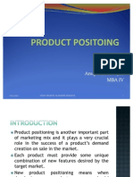 Ppt on Product Positing by Anup Kumar Ojha